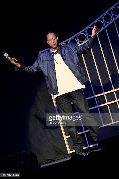 Comedian Mark Curry performs during the Katt Williams Conspiracy Theory Tour at Nashville Municipal Auditorium on November 13 2015 in Nashville...
