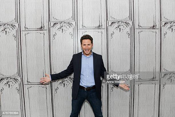 Comedian Mark Feuerstein arrives to AOL BUILD Speaker Series Mark Feuerstein Discusses His Television Series Royal Pains at AOL Studios In New York...