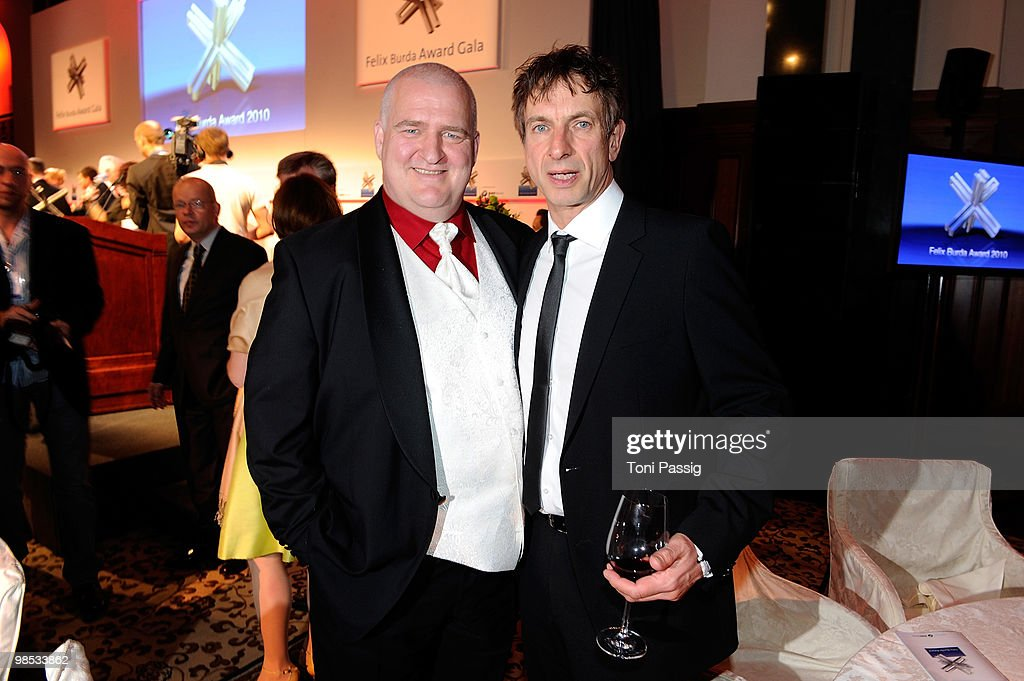 Comedian Markus Maria Profitlich and comedian Ingolf Lueck attend the 'Felix Burda Award' at hotel Adlon on April 18, 2010 in Berlin, Germany.