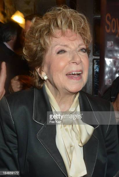 Comedian Marthe Mercadier attends the 'Les 10 Ans de Marc Mitonne' Party Hosted by '2 Mains Rouges' at the Marc Mitonne Restaurant on October 23 2012...