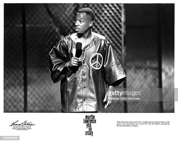 Comedian Martin Lawrence on set of the Documentary You So Crazy circa 1994