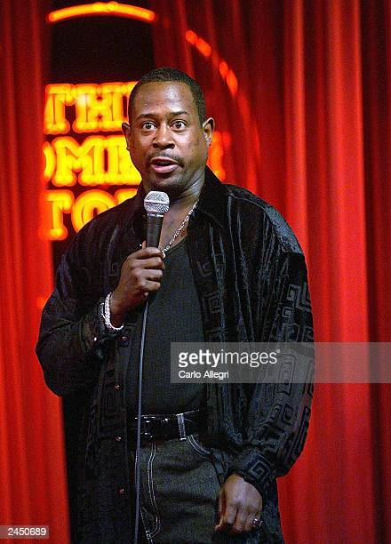 Comedian Martin Lawrence performs a surprise set at the Comedy Store August 30 2003 in Hollywood California