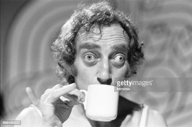 Comedian Marty Feldman poses for Mirror cameraman Ron Burton after his interview with Donald Zec at ATV's Elstree studios where he is filming his new...