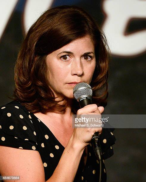 Comedian Mary Gallagher performs during her appearance at The Ice House Comedy Club on September 4 2014 in Pasadena California