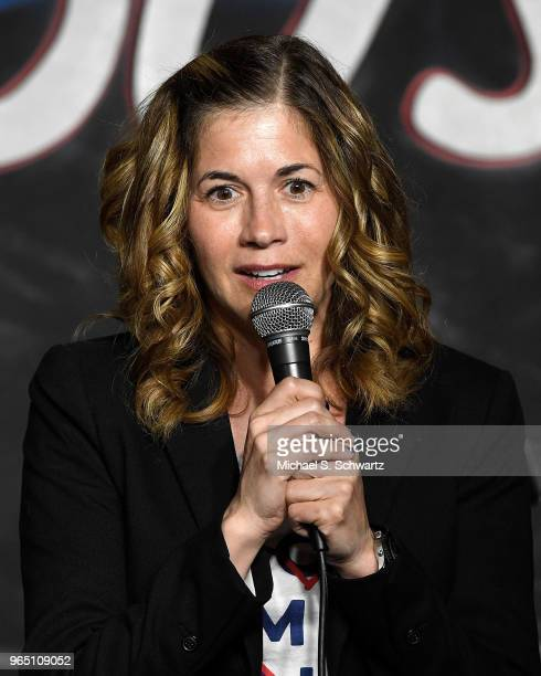 Comedian Mary Gallagher performs during her appearance at The Ice House Comedy Club on May 31 2018 in Pasadena California