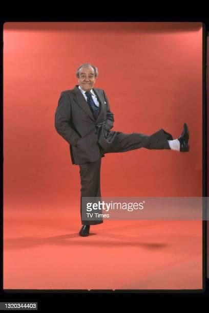 Comedian Max Wall, circa 1982.