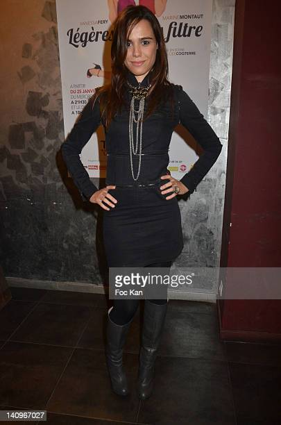 Comedian Melissa Mars attends the 'Legeres Sans Filtre' Ð Generale at Theatre Du Temple on March 8 2012 in Paris France