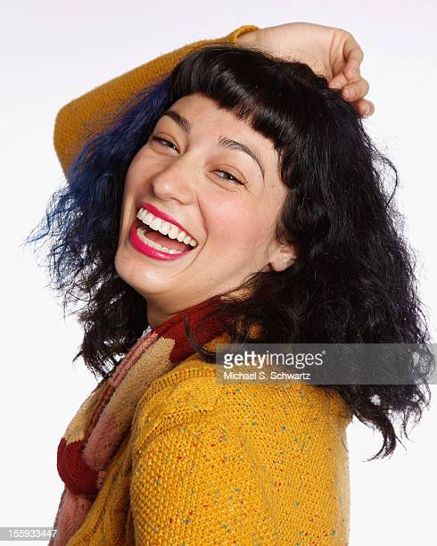 Comedian Melissa Villasenor poses after her performance at The Ice House Comedy Club on November 8 2012 in Pasadena California