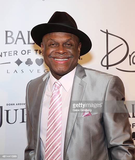 Comedian Michael Colyar arrives at the 'Jubilee' show's grand reopening at Bally's Las Vegas on March 29 2014 in Las Vegas Nevada