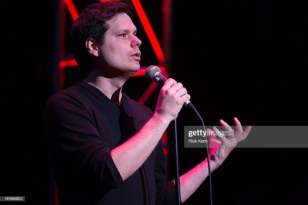 Comedian Michael Ian Black performs on stage during the Moontower Comedy Festival at the Paramount Theatre on April 26, 2013 in Austin, Texas.