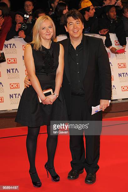 Comedian Michael McIntyre and his wife Kitty arrive at the National Television Awards held at O2 Arena on January 20, 2010 in London, England.