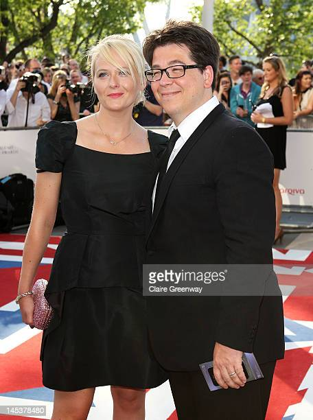 Comedian Michael McIntyre and his wife Kitty attend The Arqiva British Academy Television Awards 2012 at The Royal Festival Hall on May 27, 2012 in...