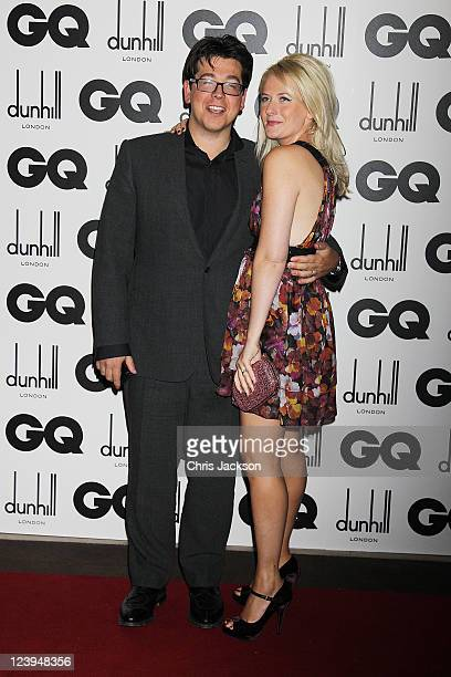 Comedian Michael Mcintyre and wife Kitty attend the GQ Men Of The Year Awards at The Royal Opera House on September 6 2011 in London England