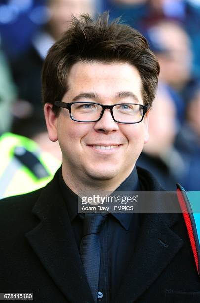 Comedian Michael Mcintyre pitch-side before the game