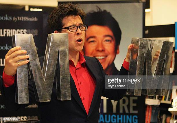 Comedian Michael McIntyre poses during a signing at Selfridges on October 14, 2010 in London, England.