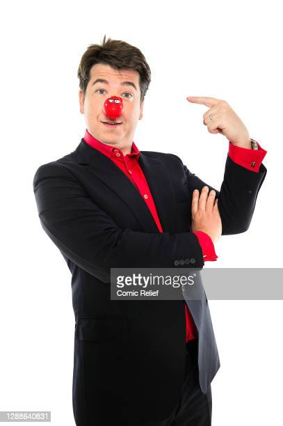 Comedian Michael McIntyre, takes part in Red Nose Day 2013, in the studio on 6 February, 2013 in London.