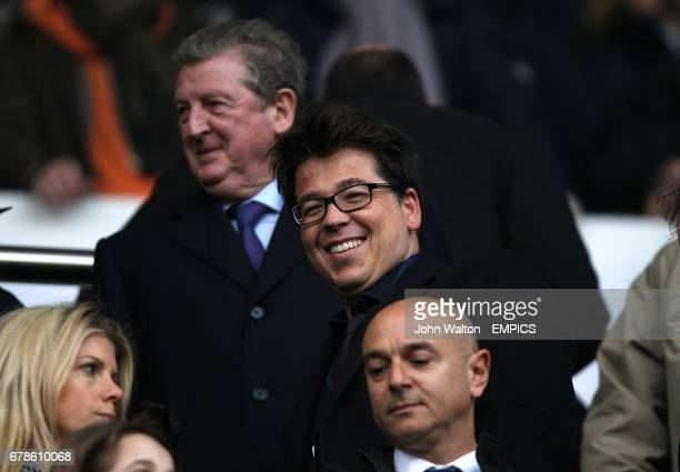 Comedian Michael McIntyre watches from the stands