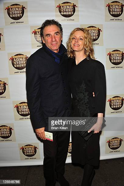 Comedian Michael Richards and Beth Skipp attend the Broadway opening night of Colin Quinn Long Story Short at the Helen Hayes Theatre on November 9...