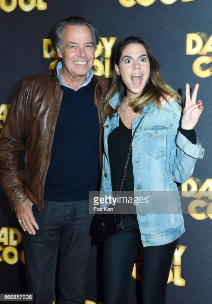 Comedian Michel Leeb and daughter singer Fanny Leeb attend the 'Daddy Cool' Paris Premiere at UGC Cine Cite Bercy on October 26 2017 in Paris France
