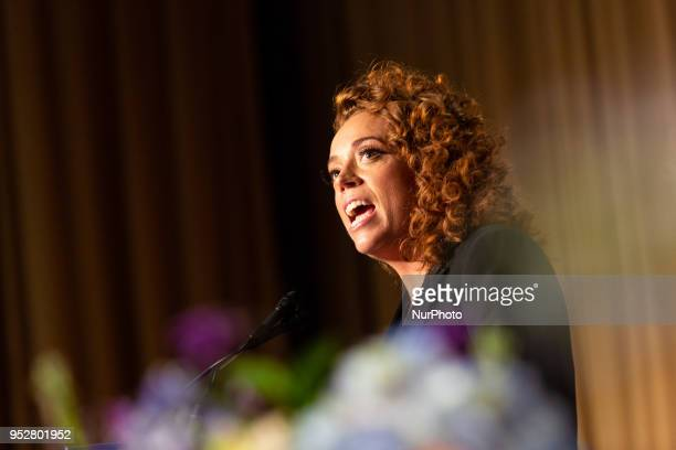 Comedian Michelle Wolf entertains guests at the White House Correspondents' Association dinner at The Washington Hilton in Washington DC on Saturday...