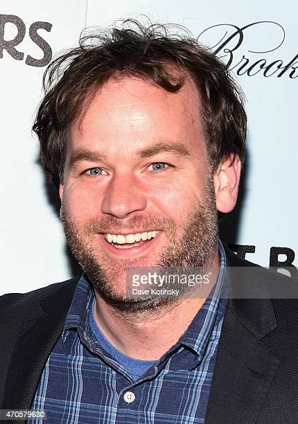Comedian Mike Birbiglia attends the New York premiere of Adult Beginners hosted by RADiUS with The Cinema Society Brooks Brothers at AMC Lincoln...