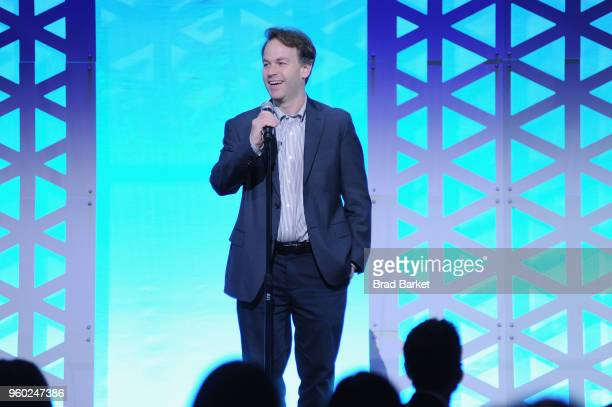 Comedian Mike Birbiglia speaks on stage during The 77th Annual Peabody Awards Ceremony at Cipriani Wall Street on May 19 2018 in New York City