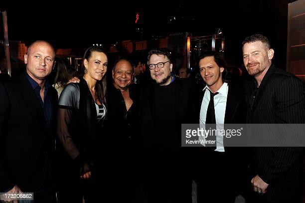 Comedian Mike Judge musician Natasha Rubin her husband comedian Richard Cheech Marin director Guillermo del Toro actors Clifton Collins Jr and Max...