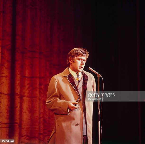 Comedian Mike Yarwood performs on stage in London England circa late 1970's