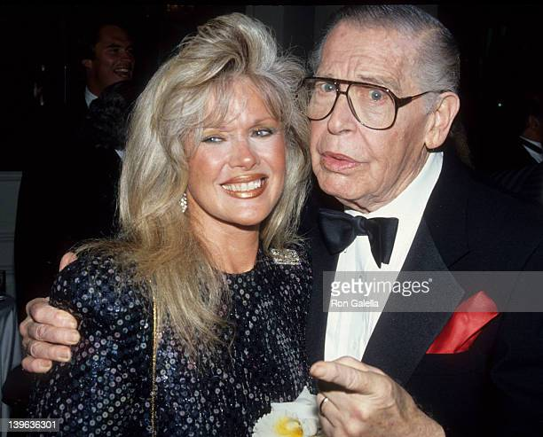 Comedian Milton Berle and actress Connie Stevens attending Westwood Shriners Gala on June 9 1991 at the Beverly Hilton Hotel in Beverly Hills...