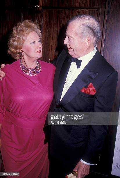 Comedian Milton Berle and actress Virginia Mayo attending Hollywood International's Celebration II on September 7 1984 at the Sheraton Premiere Hotel...