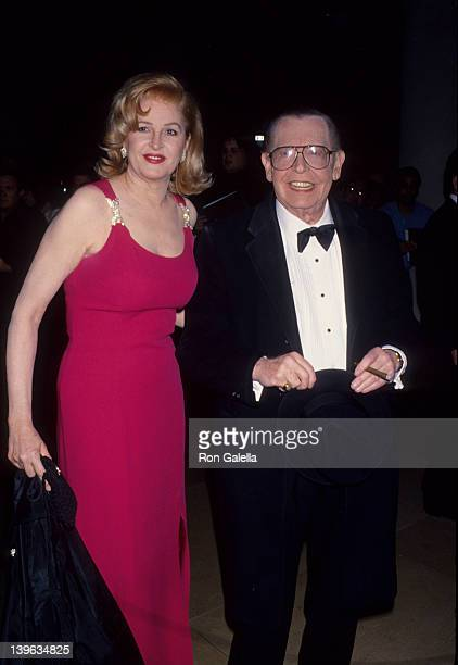 Comedian Milton Berle and wife Lorna Adams attending 10th Annual American Cinema Awards on February 6 1994 at the Beverly Hilton Hotel in Beverly...