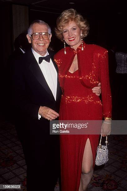 Comedian Milton Berle and wife Lorna Adams attending 20th Annual Rudolph Valentino Awards on August 1, 1992 at the Century Plaza Hotel in Century...