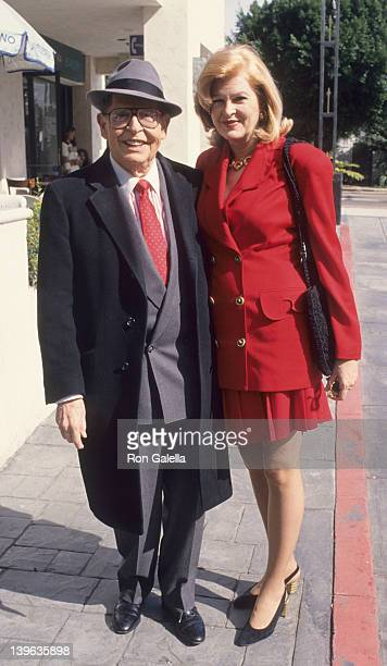 Comedian Milton Berle and wife Lorna Adams attending 49th Annual Valentino Fashion Awards Luncheon on February 13 1994 at Olympic Collection in Los...