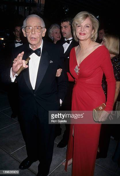 Comedian Milton Berle and wife Lorna Adams attending 90th Birthday Party for Milton Berle on July 12 1998 at the Beverly Hills Hotel in Beverly Hills...