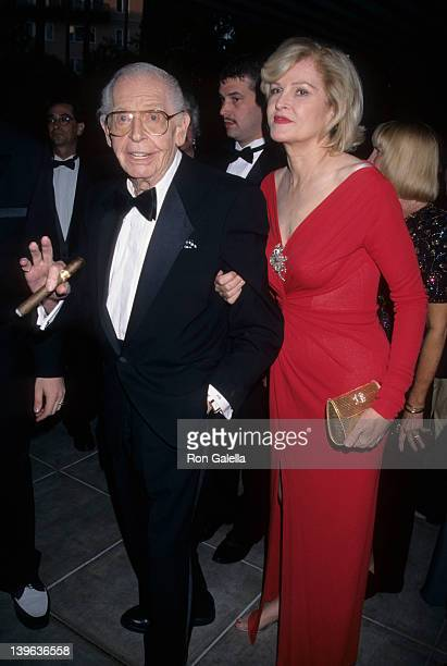 Comedian Milton Berle and wife Lorna Adams attending 90th Birthday Party for Milton Berle on July 12, 1998 at the Beverly Hills Hotel in Beverly...