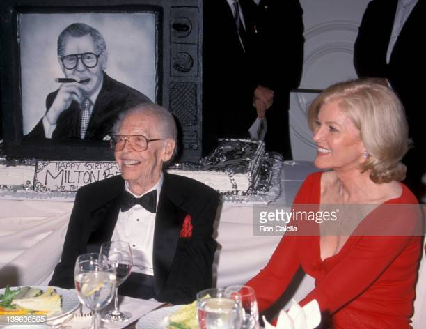 Comedian Milton Berle and wife Lorna Adams attending 93rd Birthday Party for Milton Berle on July 22, 2001 at the Beverly Hills, California.