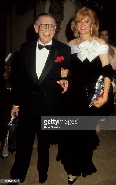Comedian Milton Berle and wife Lorna Adams attending American Cinema Awards on January 12 1991 at the Beverly Hilton Hotel in Beverly Hills California