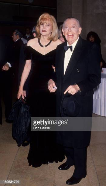 Comedian Milton Berle and wife Lorna Adams attending American Friends of Hebrew University Scopus Awards Honoring Larry King on January 29 1994 at...