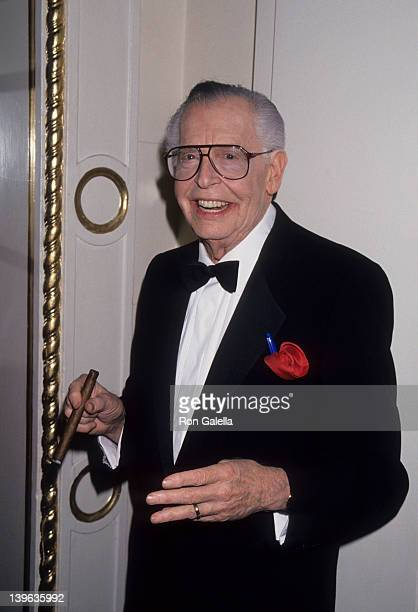 """Comedian Milton Berle and wife Lorna Adams attending """"American Scandinavian Gala Salute to the Winter Games in Norway"""" on October 18, 1993 at the..."""