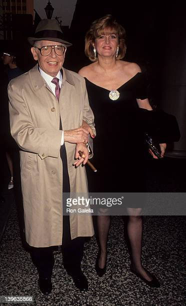 Comedian Milton Berle and wife Lorna Adams attending Fifth Annual Genesis Awards on February 3 1991 at the Beverly Wilshire Hotel in Beverly Hills...