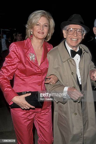 """Comedian Milton Berle and wife Lorna Adams attending """"Friar's Club Gala Honoring Jerry Springer"""" on April 29, 1999 at the Beverly Hilton Hotel in..."""