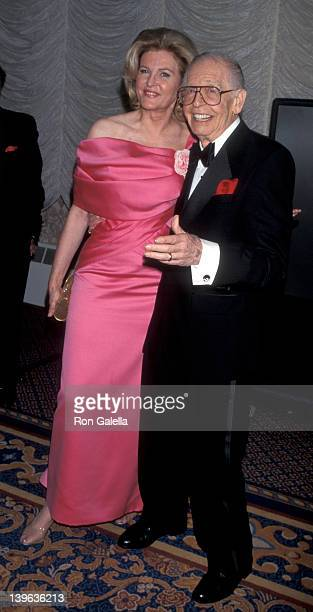 """Comedian Milton Berle and wife Lorna Adams attending """"G and P Charitable Foundation Gala Honoring Milton Berle"""" on October 12, 1998 at the Sheraton..."""