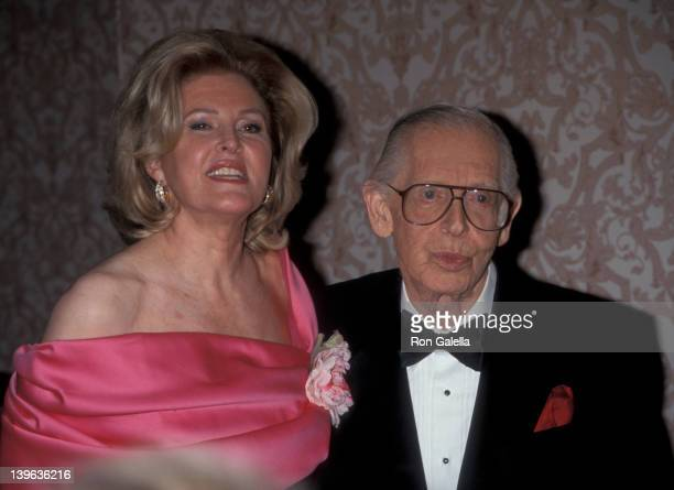 Comedian Milton Berle and wife Lorna Adams attending G and P Charitable Foundation Gala Honoring Milton Berle on October 12 1998 at the Sheraton...