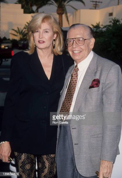 Comedian Milton Berle and wife Lorna Adams attending Grand Opening of Cuisine of the Sun on June 29 1994 at Eclipse Restaurant in Beverly Hills...