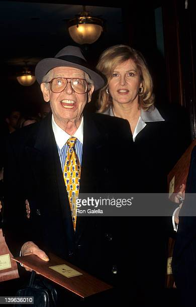 Comedian Milton Berle and wife Lorna Adams attending Grand Opening of Etro Boutique on October 25 1996 in New York City New York