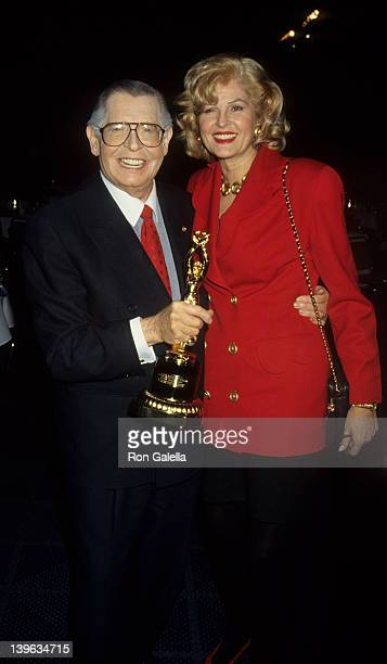 Comedian Milton Berle and wife Lorna Adams attending Iris Lifetime Achievement Awards Honoring Milton Berle on January 28 1993 at Moscone Convention...