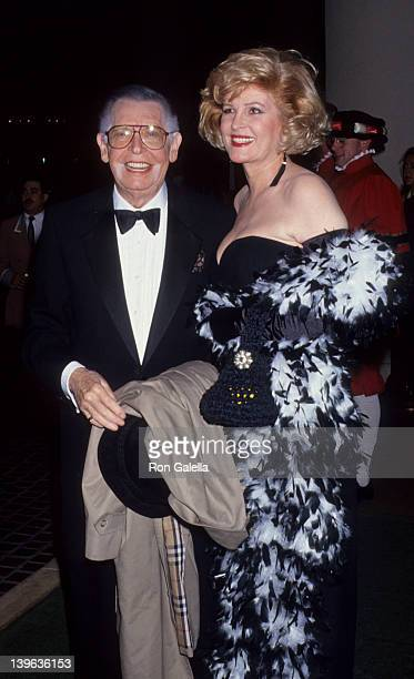 Comedian Milton Berle and wife Lorna Adams attending Nineth Annual Cinema Awards on September 12 1992 at the Beverly Hilton Hotel in Beverly Hills...