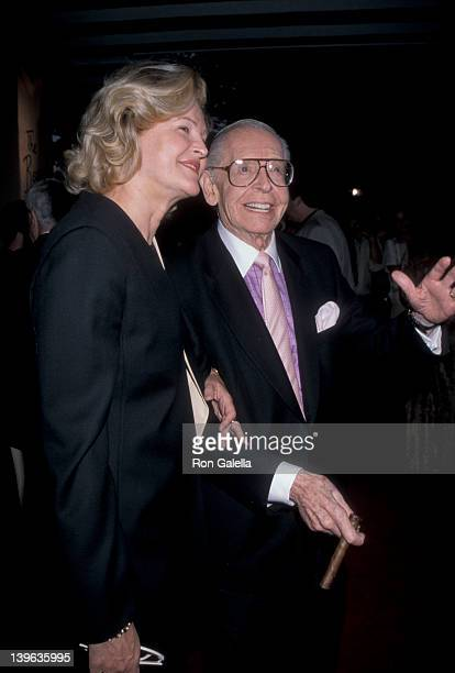 Comedian Milton Berle and wife Lorna Adams attending Nominees Luncheon for 50th Annual Primetime Emmy Awards on September 9 1998 at the Beverly Hills...