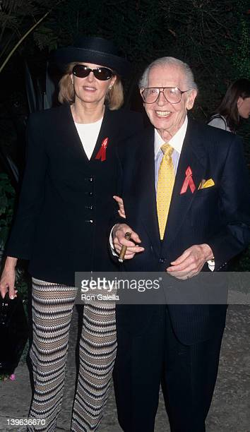 Comedian Milton Berle and wife Lorna Adams attending Nominees Luncheon for 49th Annual Primetime Emmy Awards on September 10 1997 at the Westwood...