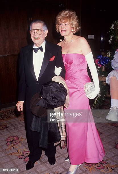 Comedian Milton Berle and wife Lorna Adams attending St Jude Children's Hospital Benefit Gala on July 25 1992 at the Century Plaza Hotel in Century...